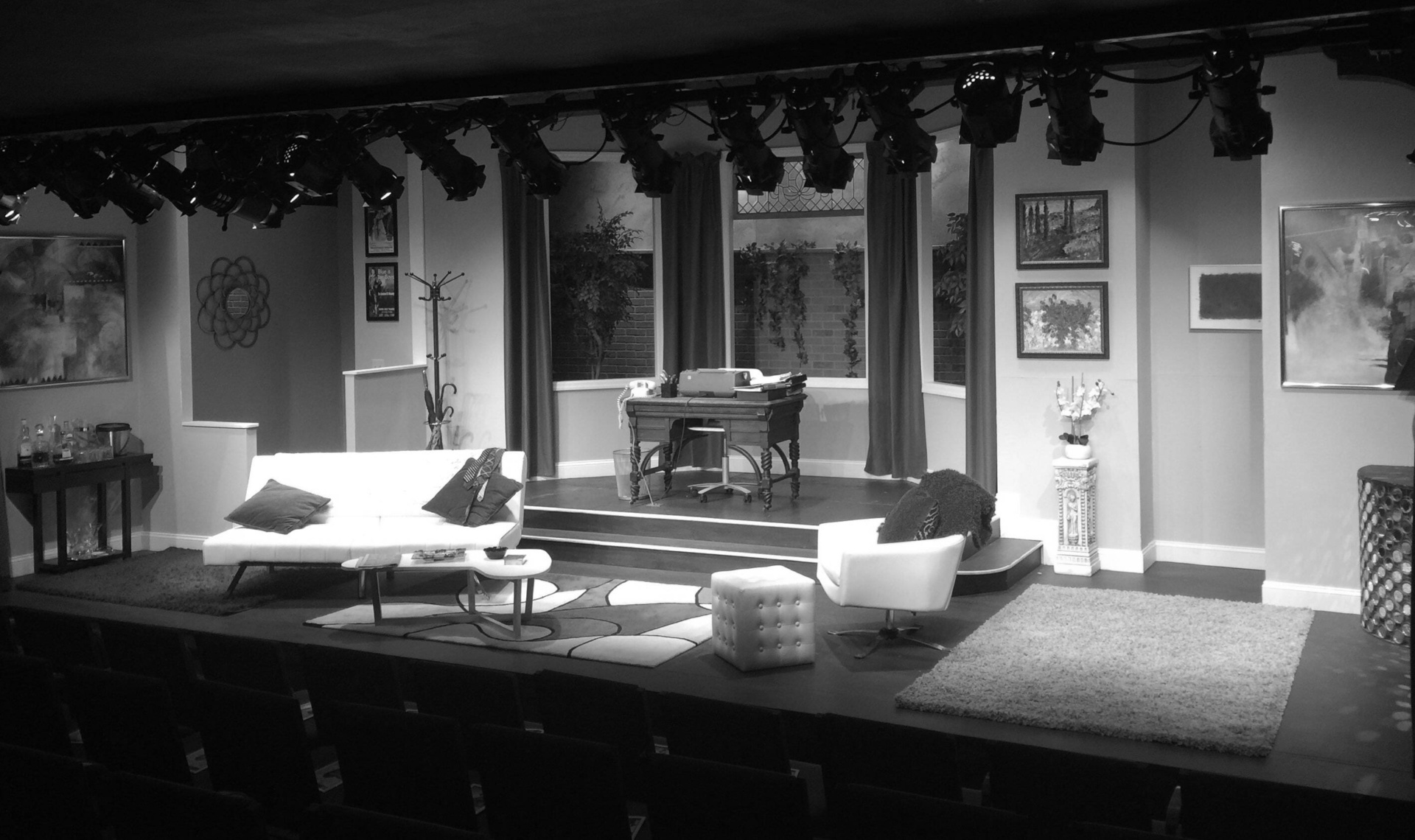 theater set of a living room